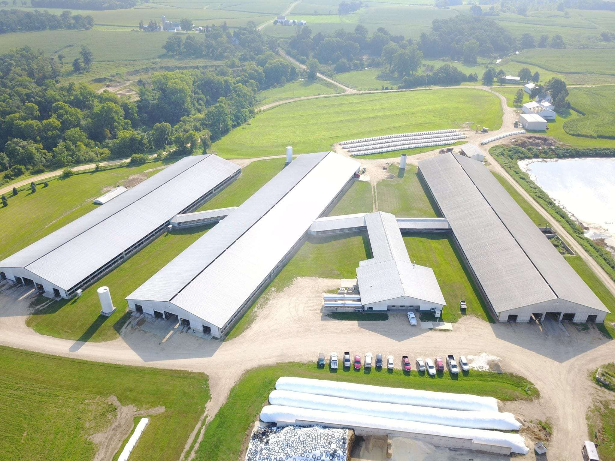 45 Ac Dairy and Land, Kent, IL